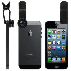 3 in 1 Universal Camera Clip Lens - Black