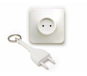 Outlet Unplug Key Holder- White