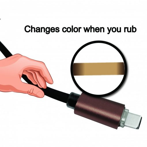 Kucipa K160 Touch Sensitive Fast Charge Type-C Cable - Brown