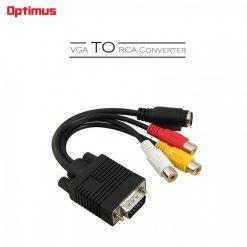 Optimus VGA To RCA Cable Converter - Black
