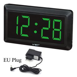 LED VST-780 Digital Wall Clock - Black