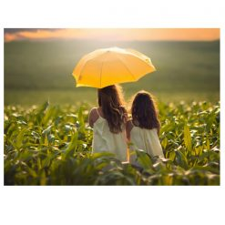Corn Folding Umbrella - Yellow