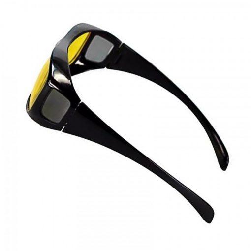 HD Vision Anti Glare Wrap Around Glasses - Black