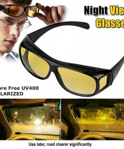 HD Vision Anti Glare Wrap Around Glasses - Black