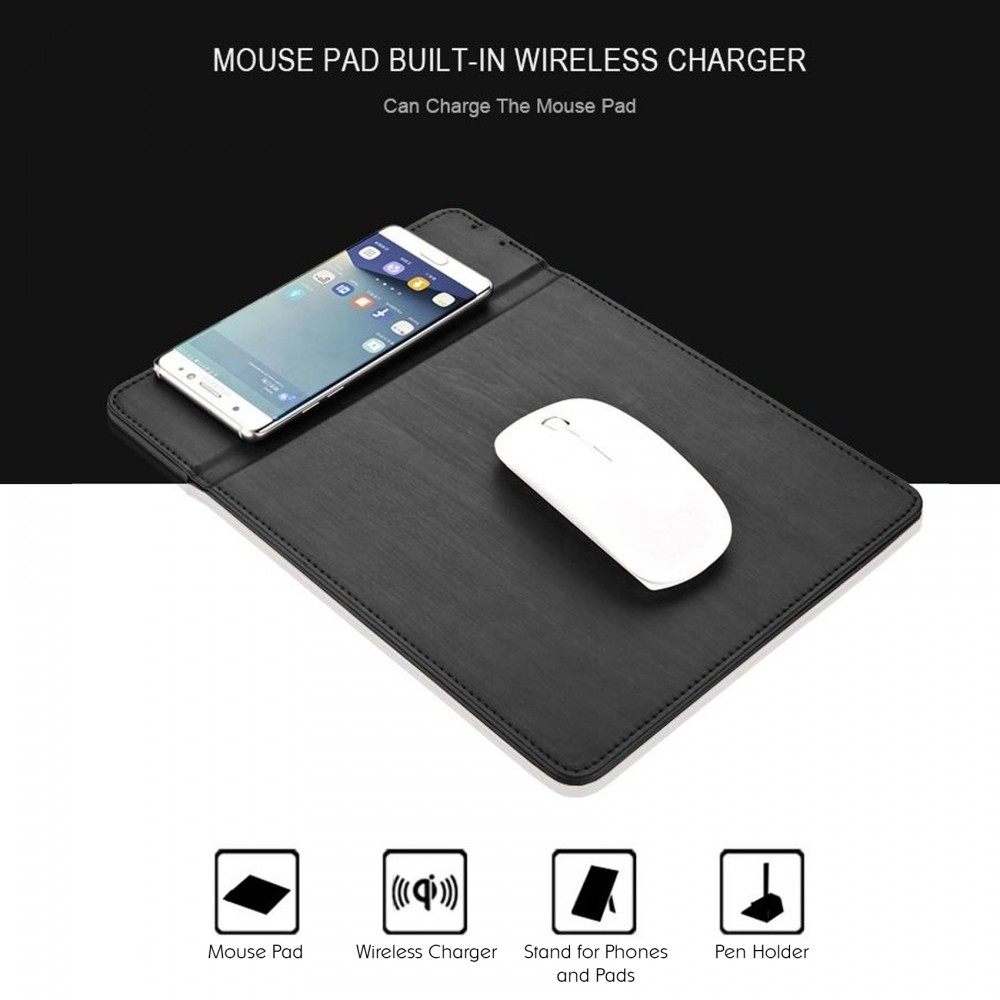 lowest price 4311b 5eccb QI Wireless Charging Mouse Pad - Black - LatestGadget