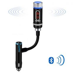Detachable A2DP Car Bluetooth  FM Transmitter With Flexible Connector