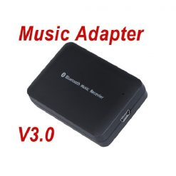 Micro USB Female Apple Bluetooth Music Receiver For Docking Station- Black