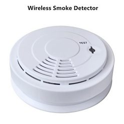 433MHZ Home Security System Wireless Smoke Detector Fire Alarm With 220v  Power Supply - White