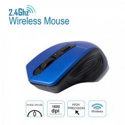 2.4 GHz 1600 DPI Wireless Mouse - Blue