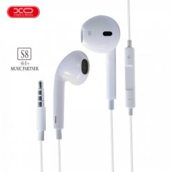 3.5mm XO S8 High Fidelity Sound Earphones - White