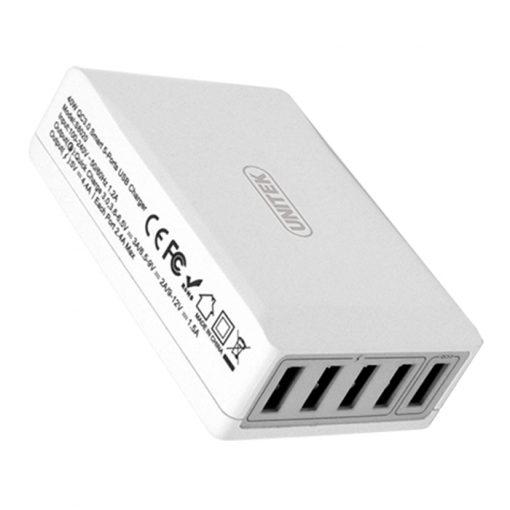 40W 5-Port USB Smart Charger (1-Port QC3.0 + 4-Port 2.4A) - White