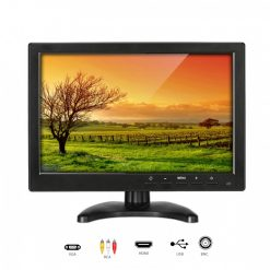 10.1 inch TFT LED CCTV Monitor With Built In Speaker - Black