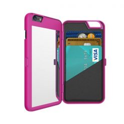 iFrogz Charisma Case for iPhone 6 Plus with Mirror and Wallet – Pink