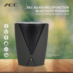 AEC BQ-616 Multifunction Bluetooth Speaker With FM Radio And MP3 Player - Black