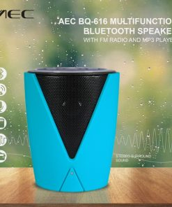 AEC BQ-616 Multifunction Bluetooth Speaker With FM Radio And MP3 Player - Blue