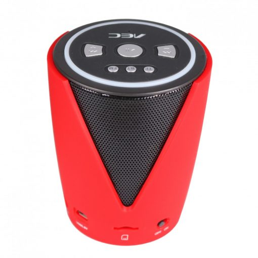 AEC BQ-616 Multifunction Bluetooth Speaker With FM Radio And MP3 Player - Red