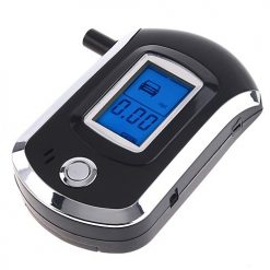 Digital LCD Breathalyzer Alcohol Breath Tester - Black