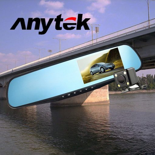 Anytek T22 REarview Mirror Dash Camcorder - Black