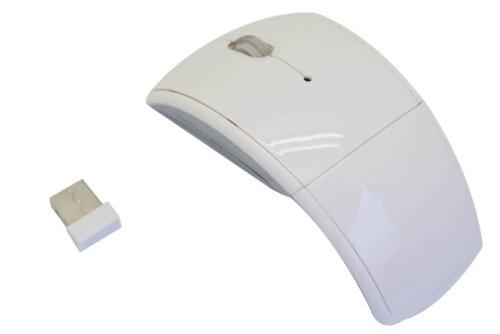 2.4GHz Wireless Folding Arc Mouse - White
