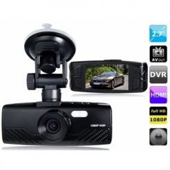 1080P Wide Screen Car DVR with Gravity Sensor and HDMI Output AT700 - Black