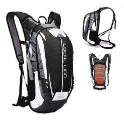 LOCAL LION Outdoor Cycling Travelling Backpack - Black/Grey
