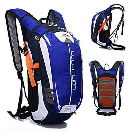 LOCAL LION Outdoor Cycling Travelling Backpack - Blue