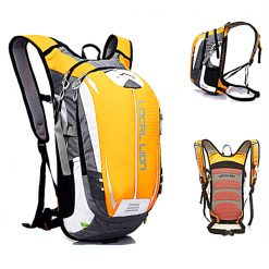 LOCAL LION Outdoor Cycling Travelling Backpack - Light Orange/ Grey