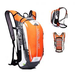 LOCAL LION Outdoor Cycling Travelling Backpack - Dark Orange/Grey