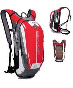 LOCAL LION Outdoor Cycling Travelling Backpack - Red/Grey