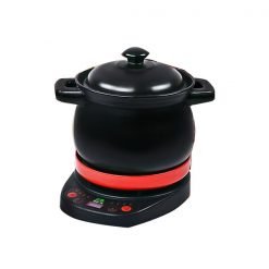 Ceramic Casserole Pot Electric Slow Cooker - Black