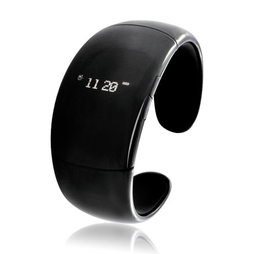 Bluetooth Bracelet with Time Display - Black