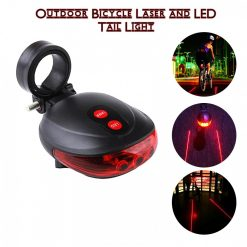 Outdoor Bicycle Laser and LED Tail Light - Red