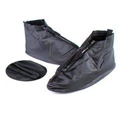 Plastic Zip up Shoe Cover for Men- Black