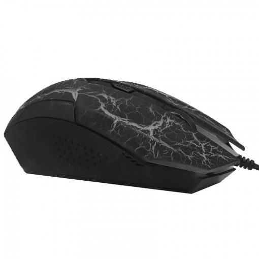 3200 DPI Ergonomic Wired Optical Gaming Mouse - Black/Gray