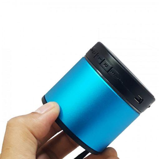 AEC BQ-606 Mini Bluetooth Speaker with FM And Micro SD MP3 Player – Blue