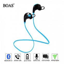 Boas Waterproof Wireless Bluetooth 4.1 Stereo Sport Earphone With Microphone -Blue