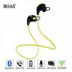 Boas Waterproof Wireless Bluetooth 4.1 Stereo Sport Earphone With Microphone - Green