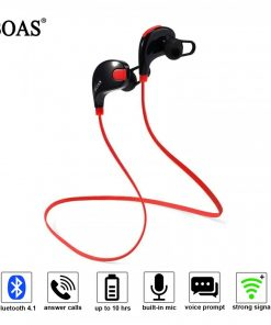 Boas Waterproof Wireless Bluetooth 4.1 Stereo Sport Earphone With Microphone - Red