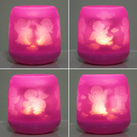 Blow Sensitive LED Electronic Candle Light - Pink