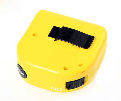 Mini 15 meters Ultrasonic Distance Measurer With Bubble Level LCD Laser Pointer - Yellow