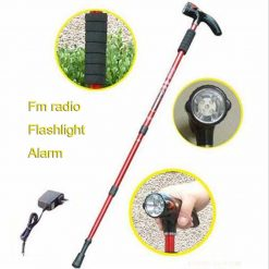Multifunction Cane With LED Light FM Radio And Alarm Siren