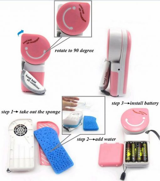 Hand-held Air Condition - Pink
