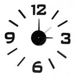 DIY Wall Sticker Clock - Black