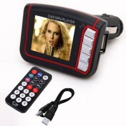 Car Mp4 Player With FM Modulator - Red