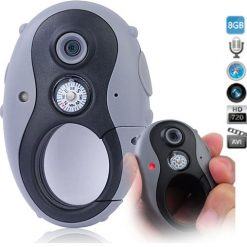 720P Clip Type Sports Camera With Compass - Grey/Black