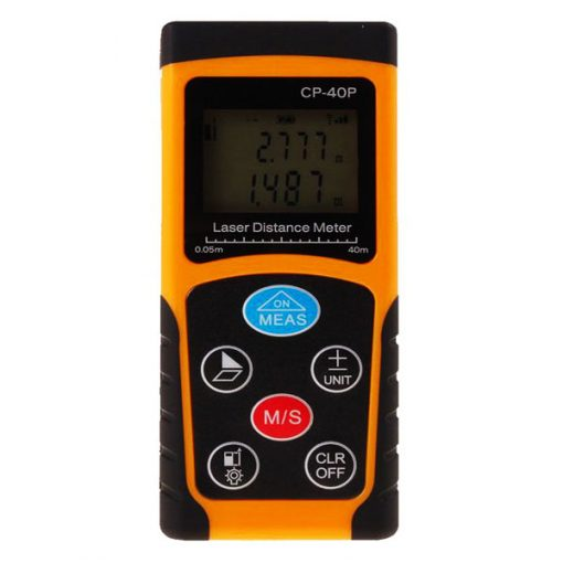 Portable Handheld 40M Laser Distance Meter - Orange/Black