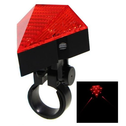 Rechargeable Diamond Laser Led Bicycle Tail Light - Red
