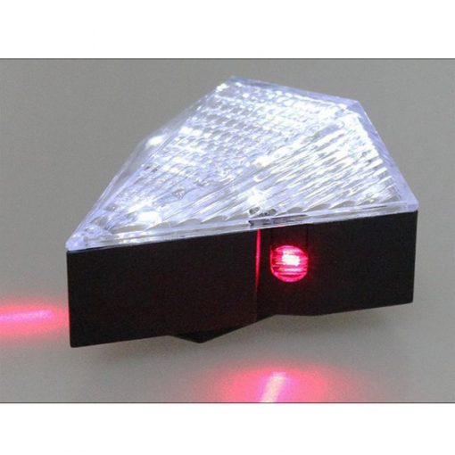 Rechargeable Diamond Laser Led Bicycle Tail Light - White