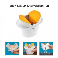 Easy Egg Cracker / Egg Separator - Yellow