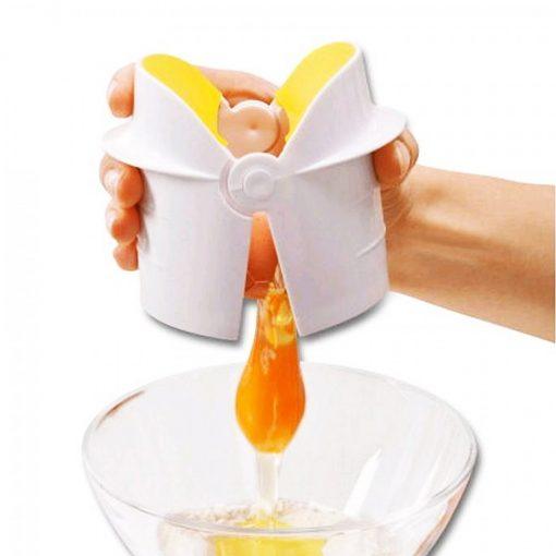 Easy Egg Cracker / Egg Separator - Yellow